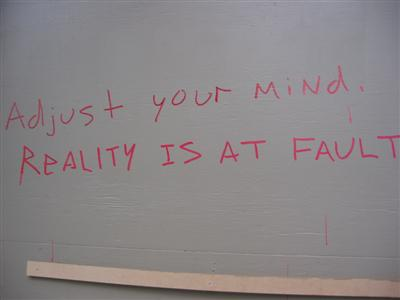 Adjust your mind / Reality is at fault